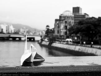 origami crane luz10 hiroshima pedro ivan ramos martin